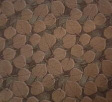 Noir BTY Timeless Treasures Tonal Brown Leaves 100% Cotton Fabric