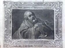 Apostolo GUIDO RENI acquaforte XVIII sec. A. JOSEPH von PRENNER AUSTRIA Vienna