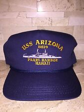 USS ARIZONA BB39 PEARL HARBOR MENS OSFA SNAPBACK CAP