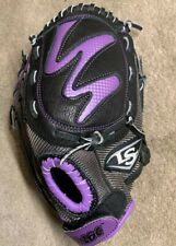 "Louisville Slugger DV14HU 11"" Glove Purple Black RHT pre-owned Girls Diva"
