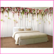 Wallpaper Mural Romantic Flowers Bedroom Walls Background Cover Elegant Style