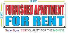 2x5 FURNISHED APARTMENT FOR RENT Banner Sign