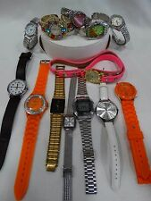 13 COSTUME, DESIGNER USED WATCHES FOR PARTS, REPAIRS OR REPLACEMENTS