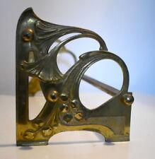 More details for fine antique art nouveau gilded brass / bronze book stand