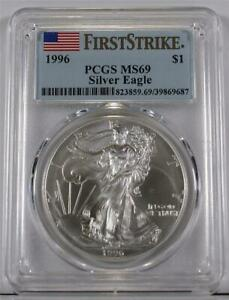 1996 Silver Eagle PCGS MS69 First Strike From The Only FS Sealed Mint Box So Far