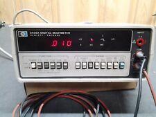 Hp Hewlett Packard 3435a 3 12 Digit Multimeter Kb 76