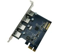 10x External 4 USB3.0 Port PCI-e x1 Card PCI Express to USB3.0 SATA Power FL1100