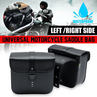 Motorrad Seitentasche PU Leder Chopper Satteltasche Gepäcktasche Seitenkoffer