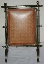Antique  Solid  Brass  Folding Triple Screen Dressing Table Mirror / c 19th