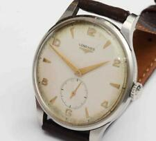 1954 vintage LONGINES STAINLESS STEEL 37.5mm Mens Wristwatch, 17 Jewels