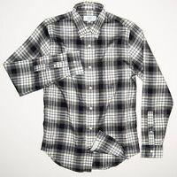 JACK SPADE New York Men's Button Down Shirt Gray Plaid Cotton Size Small