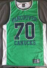 Vancouver Canucks Green Tank Top Majestic NHL Size M Shirt Sleeveless #70 Hockey