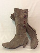 Nine West Brown Mid Calf Suede Boots Size 39