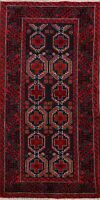 3'x6' Geometric Balouch Oriental Tribal Area Rug Hand-Knotted Home Decor Carpet