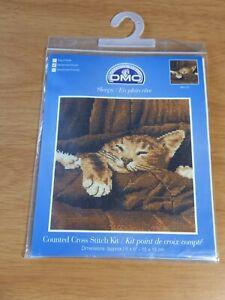 "DMC Sleepy Cat ""Maisie Jane"" Brown Tabby with Ginger Spots Cross Stitch Kit"