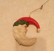 Ceramic Crescent Moon Santa Ornament