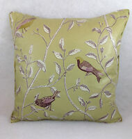 """Sanderson Finches Sage Cushion Covers 18""""x18"""" 16""""x16"""" 16""""x12""""Professionally Made"""