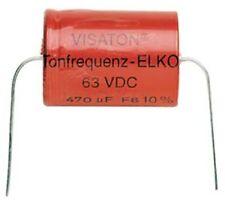 Visaton Bipolaire Elco 15 Uf 63 V ELEKTRONIK STROM SPANNUNG KONDENSATOR VERLUST