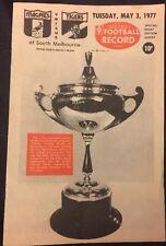 Richmond V Collingwood 1977 Footy Record