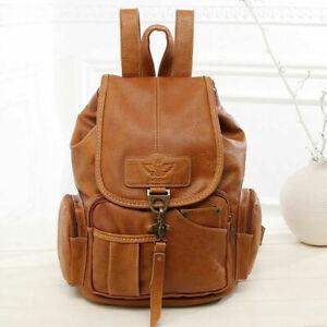 Women Backpack Leather Rucksack Girls School Bag Casual Daypack Shoulder Bag
