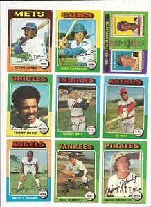1975 TOPPS BASEBALL --- 133 CARD LOT --- ALL DIFFERENT  less than 20 cents each