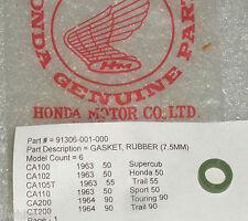 Honda CA110 CA102 CA100 CT200 CA200 Rubber Cylinder Gasket OEM NOS 91306-001-000