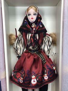 "12"" Mattel Barbie Doll Silkstone Fashion Model Russian Mila Barbie Gold COA MWB"