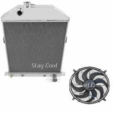 "Ford/Mercury Coupe Radiator,16"" Fan & Relay Kit,Aluminum 2 Row 1"" Tubes, AE46CH"