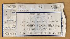 1993 Adam Ant And The Ants Los Angeles Concert Ticket Stub Goody Two Shoes