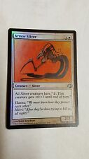 1x FOIL ARMOR SLIVER - Rare - PREMIUM DECK - MTG - NM - Magic the Gathering