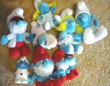 VINTAGE SMURFS FIGURES Plush Dolls and Musical Wind up 9 Different SMURF