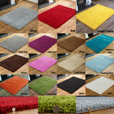 THICK SOFT SHAGGY PLAIN LIVING ROOM PREMIUM QUALITY NON SHED RUGS LOW COST SALE