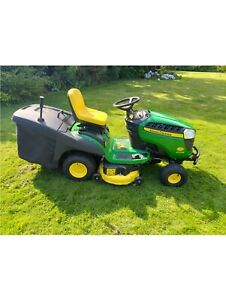 John Deere X155R Ride-on Mower (Only 28.7 hours) PLUS Tipping Trailer