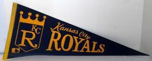 Vintage MLB Baseball Pennant KANSAS CITY ROYALS 1969  12x30