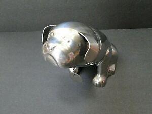 Pottery Barn Bulldog Stainless Steel Cocktail Shaker