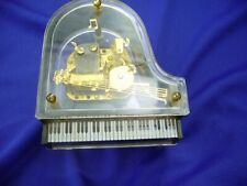 """Laurel Lucite """"Grand Piano"""" Music Box - Plays """"You Light Up My Life"""""""