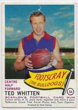 1966 Scanlens Die Cut (54) Ted WHITTEN Footscray /: