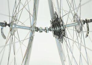 "VINTAGE SUNSHINE ARAYA HIGH FLANGE 5 SPEED ROAD BICYCLE 27"" WHEELS SET 126 MM"