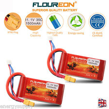 2x 3S 11.1V 1500mAh 35C Li-Po Battery XT60 for RC Airplane UAV Drone FPV Car