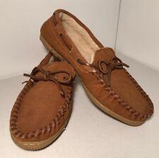 Tamarac by Slippers International Leather 1916 Moccasin Slipper Tan Men Size 8EE