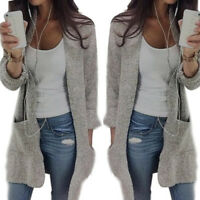 Women Ladies Knitted Sweater Casual Long Sleeve Cardigan Jacket Coat Outwear US