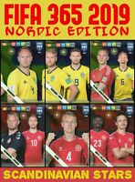 PANINI ADRENALYN XL FIFA 365 2019 SCANDINAVIAN STARS - NORDIC EDITION CARDS