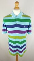 Mens Joop Short Sleeve Polo Shirt (22470) Size Large Slim Fit Striped Cotton