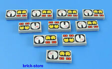 LEGO®  1x2 bedruckte Fliesen Platte Tachometer/Amaturen / 10 Stück
