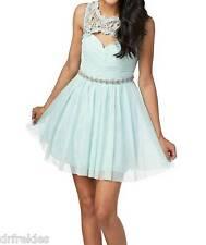 NWT Sequin Hearts Juniors Lace Cutout Mint Color Party Dress Size 13