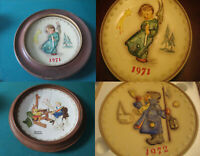 HUMMEL ROCKWELL COLLECTOR PLATES WOOD FRAME 1971/1972 /1980- THE ARTIST DAUGHTER