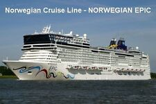SOUVENIR FRIDGE MAGNET of CRUISE SHIP NORWEGIAN EPIC - NORWEGIAN CRUISE LINE
