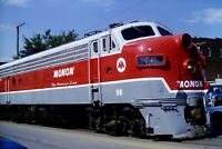 Original Slide Monon Railroad FP7 96 Kokomo, IN Street Running 1991