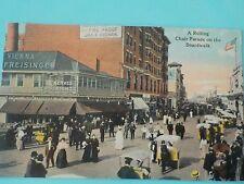 1913  POSTMARKED ROLLING CHAIR PARADE  ATLANTIC CITY NJ POSTCARD