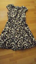 NEXT Girl's Leopard Print Cap Sleeve Long Bodiced Party Dress - UK 12